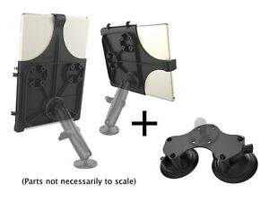 RAM Dual Suction Cup Mount for iPad Pro 12.9 w/Long Arm, Airline Configuration