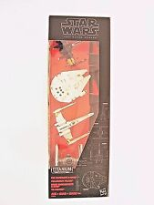 Star Wars Disney Hasbro The Black Series Titanium Millennium Falcon X-wing Set