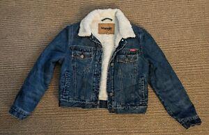 Wrangler Denim Wool Jacket Size 10