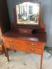 Antique Vanity Table With Detachable Mirror And Two Drawers. Post 1900.