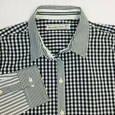 Abercrombie & Fitch Patchwork Button Down Sz Medium Check Stripe L/S Shirt