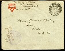 APO 832 1918 YMCA COVER 84th DIV. (APO 905) to IOWA