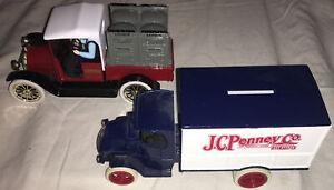 Spec Cast 1916 Stidebaker Lennox Bank & Ertl J.C. Penny 1926 Truck Bank Box #1