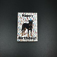 Beauceron Dog Happy Birthday Magnet Handmade Hunting Dog Gifts and Home Decor