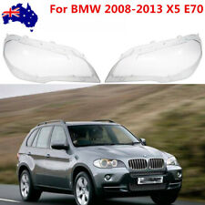 Pair Clear Lens Lamp Headlight Light Cover Lampshade For BMW 2008-2013 X5 E70 AU