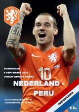 2018 FRIENDLY NETHERLANDS HOLLAND v PERU A5 PROGRAMME