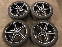 Set Of 4 Mercedes C Class AMG Wheels & Tyres | W205 A2054011100 A2054011200