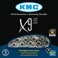 KMC X9.93 9 27 SPEED NICKEL PLATED BIKE CHAIN ROAD MTB fits SRAM SHIMANO CAMPY