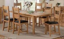Oak Antique Style Table & Chair Sets 7 Pieces
