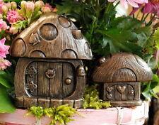 Mushroom FairyDoors In/Outdr Fairy doors for Faries Elfs Pixies Bronze Finish