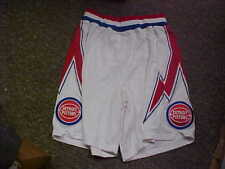 NBA 1978-1981 Detroit Pistons Hardwood Classic Adidas Game Issued Shorts Size 48