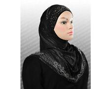 wholesale LOT 10 JERSEY 2 Pc Al Amira Muslim metallic Spandex HIJAB U.S.A SELLER