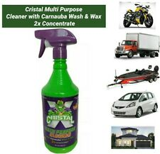 (Pk/32oz.) Cristal Multi Purpose Cleaner with Carnauba Wash & Wax 2x Concentrate