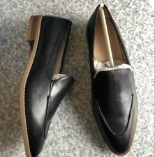 Essex Lane El-Lani Black Asti Soft Leather loafers Womens Shoes NEW Size 9.5