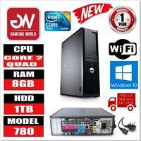 GREAT OFFER BRAND NEW DELL OPTIPLEX 780 Core 2 QUAD 2.40GHz 8GB 1TB  Win10