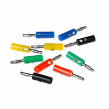 10 Pcs 4mm Wire Audio Speaker Banana Plug Cable Connectors Adapter