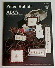 Peter Rabbit ABC's Green Apple Publications Cross Stitch Pattern Book 531