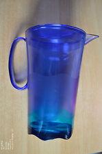 Tupperware Eleganzia Kanne 2l mit Deckel , sehr dekorativ  wie neu! blau-grün