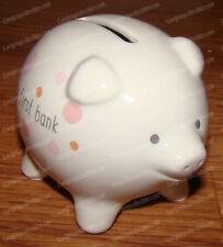 My First Piggy Bank, Pink Mini Pig (Beginnings by Enesco, 4041436) Stoneware