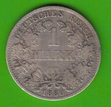 Kaiserreich 1 Mark 1880 D besserer Jahrgang nswleipzig