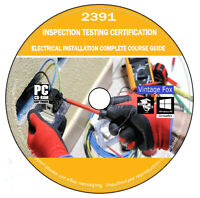 2391 Electrical Installation TestIng Inspection Study Course Exam Questions DVD