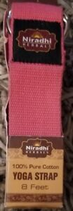 Niradhi Herbals Yoga Strap with D-Ring 8ft PINK