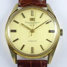 """IWC """"Juwelier BEYER Zürich"""" 18ct Gelbgold Herren Automatik Armbanduhr Ref. R810A"""