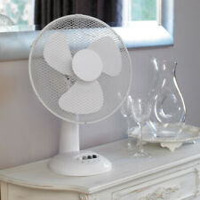 "Kingfisher Fan 3 Limitless 12"" Desk Fan with 3 speed settings - White"