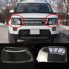 Front Headlight Headlamp Lens Cover For Land Rover Discovery 4 LR4 2014-2016