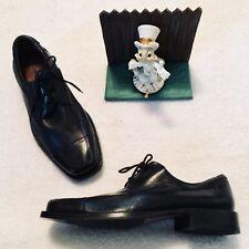 Johnston & Murphy Oxford Mens 8 M Dobson 20-7511 Black Leather Cap Toe Shoe Lace