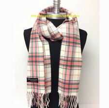 100% CASHMERE SCARF MADE IN SCOTLAND PLAID DESIGN SUPER SOFT FASHION UNISEX WRAP