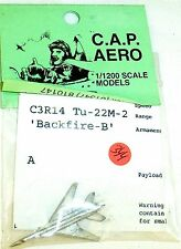 1 Aeroplane c3r14 tu-22m-2 backfire-bcap Aero for Ship Model 1:1200 shp344 Å √