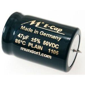 Mundorf ECap PLAIN 1 St. Bipolarer Glattfolien-Elektrolyt-Kondensatoren 10,00µF