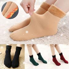 Calcetines unisex térmicos Invierno Cálido sólido Mujer Hombre causal grueso por encima calcetines de tobillo