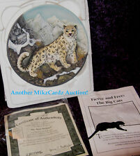 """""""The Snow Leopard"""" Bradford Exchange Big Cats 3D Plate - Free Shipping! Coa"""