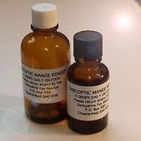 ***15ml SARCOPTIC MANGE TREATMENT & ITCHY SKIN DOGS CATS PETS, 100% NATURAL***