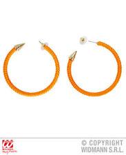 Orecchini arancio fluo 80 S Party Costume Costume Gioielli Accessorio 1980 S