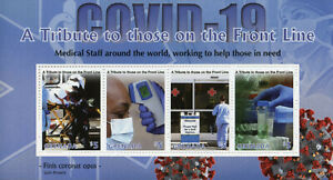 Grenada Medical Stamps 2020 MNH Tribute to Front Line Corona Health 4v M/S