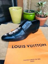 AUTH LOUIS VUITTON MENS SHOES OXFORDS WINGTIPS US SIZE 9 MADE IN ITALY