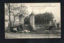 CPA PORT-à-BINSON - Le pont suspendu sur la Marne