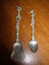 Montagnani Antique Ornate Figural Shovel & Spoon set Italy