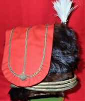 1870's era BRITISH ARMY OFFICER OF HUSSARS UNIFORM FUR BUSBY CAP