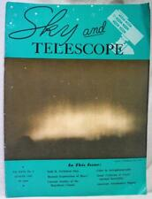 SKY AND TELESCOPE MAGAZINE AUGUST 1963 VINTAGE ASTRONOMY SCIENCE AMATEUR HOBBY