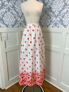 1970s Vintage VERA Maxi Wrap Skirt Size Extra Small XS