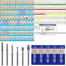 50pcs Dental Diamond Bur Burs Drills Medium FG 1.6MM for High Speed Handpiece