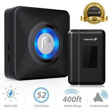 Fosmon Easy Install LED Wireless Doorbell [1 Receiver + 1 Magnetic Door Sensor]