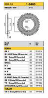 1-3485 - CORONA PASSO 520 per HONDA CBR F (Racing 520 Conversion) 600 2011 2012