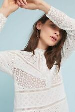 New Anthropologie Burnham Lace Top by James Coviello Eyelet lace blouse size L