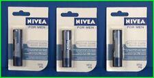 3 NIVEA for MEN Active Care LIP BALM STICK Shine-Free Protection 4.8g NEW