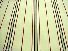 Cream Black Red  Curtain Ticking Striped Fabric  214cm per/mtr -CLEARANCE PRICE
